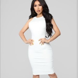 Melinda Body Sculpting Midi Dress - White